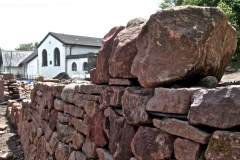 New wall at Buchanan Memorial Hall – pic © Loch Lomond Studios